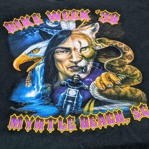 Vintage 1998 Myrtle Beach Bike Week T-Shirt Large